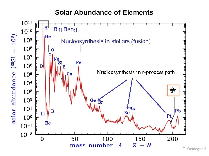 Solar Abundance of Elements Big Bang Nucleosynthesis in stellars (fusion) Nucleosynthesis in r-process path