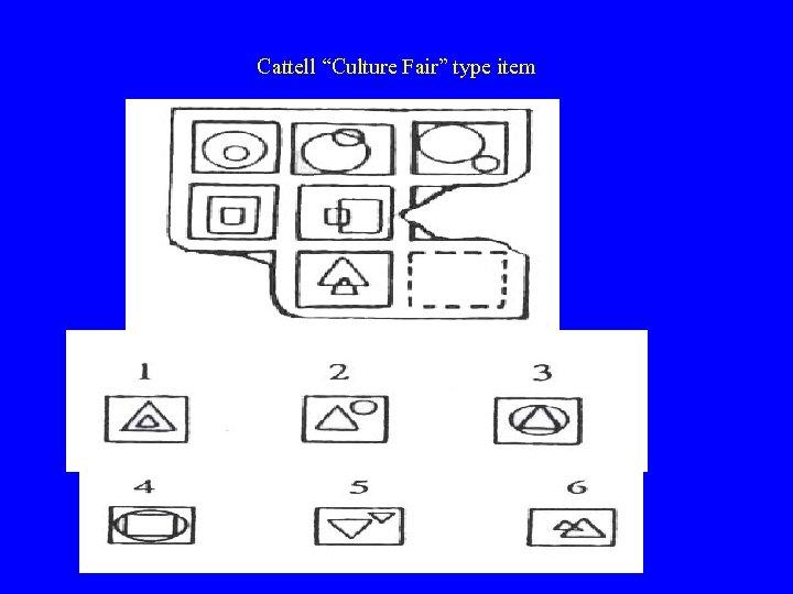 """Cattell """"Culture Fair"""" type item"""