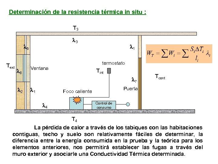 Determinación de la resistencia térmica in situ : T 3 l 5 Text l