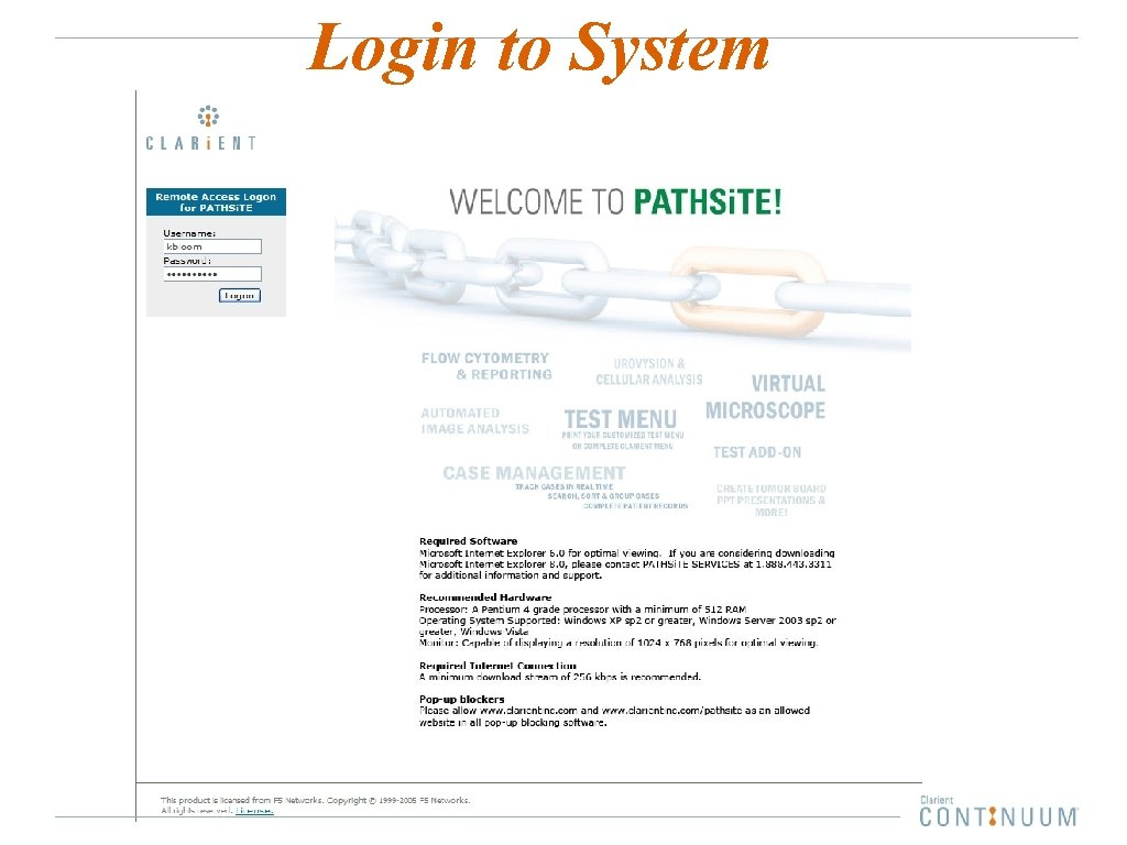 Login to System