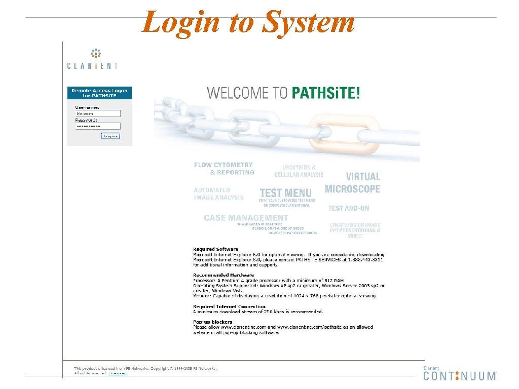 Login to System