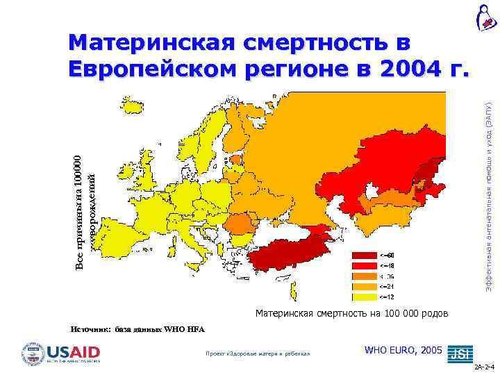 Все причины на 100000 живорождений Эффективная антенатальная помощь и уход (ЭАПУ) Материнская смертность в
