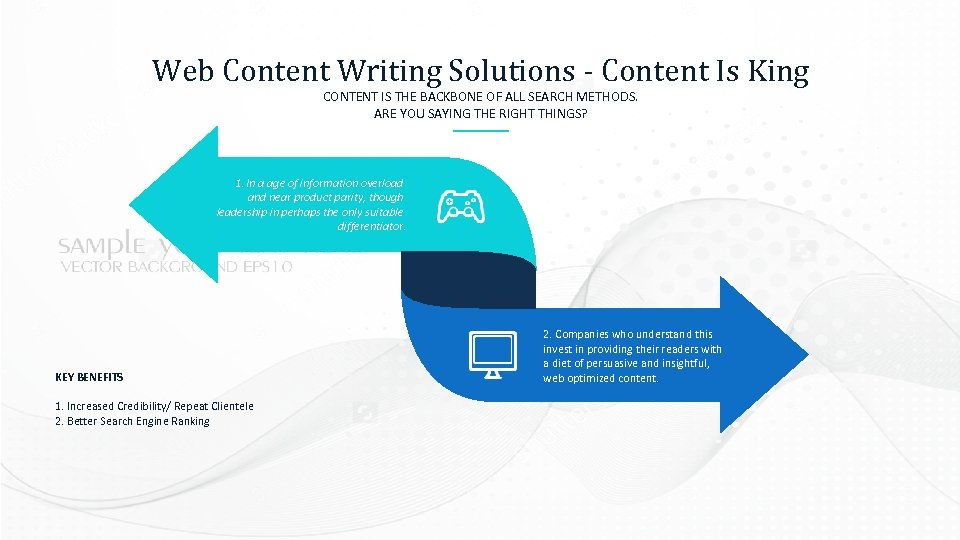 Web Content Writing Solutions - Content Is King CONTENT IS THE BACKBONE OF ALL