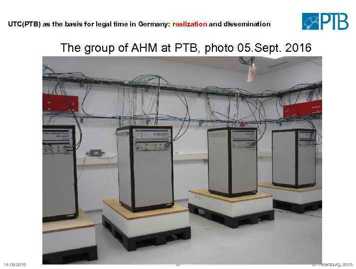 UTC(PTB) as the basis for legal time in Germany: realization and dissemination The group