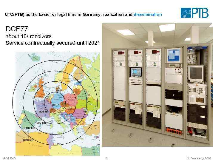 UTC(PTB) as the basis for legal time in Germany: realization and dissemination DCF 77