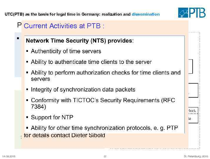 UTC(PTB) as the basis for legal time in Germany: realization and dissemination PTB's public
