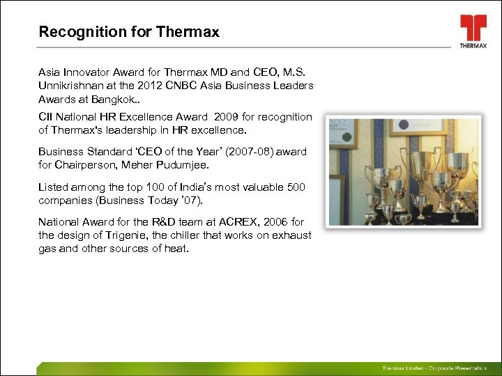 Sustainable Solutions in Energy and Environment 1 Thermax