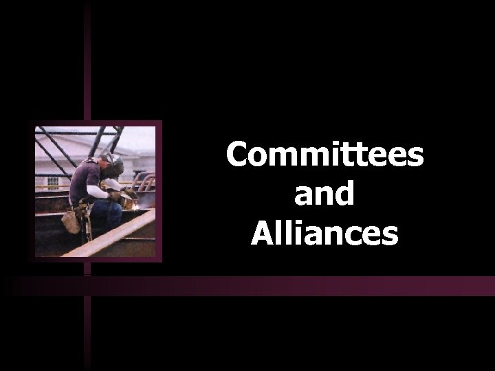 Committees and Alliances