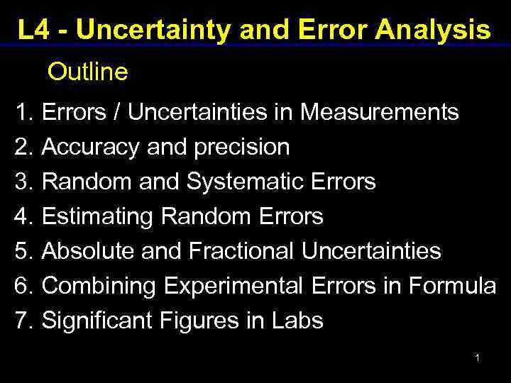 With error analysis uncertainty angie