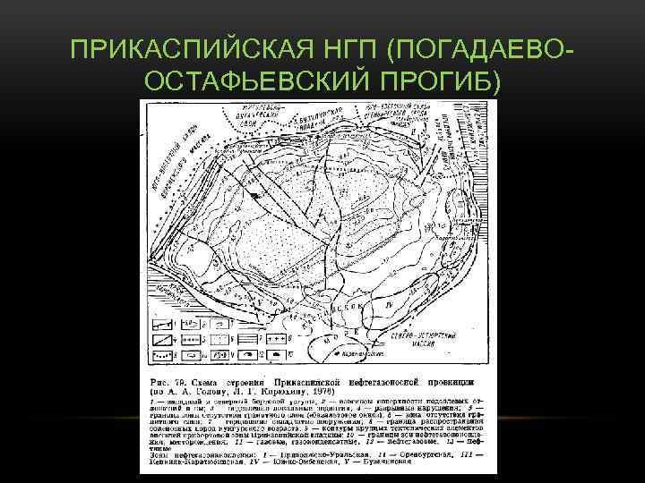 ПРИКАСПИЙСКАЯ НГП (ПОГАДАЕВООСТАФЬЕВСКИЙ ПРОГИБ)