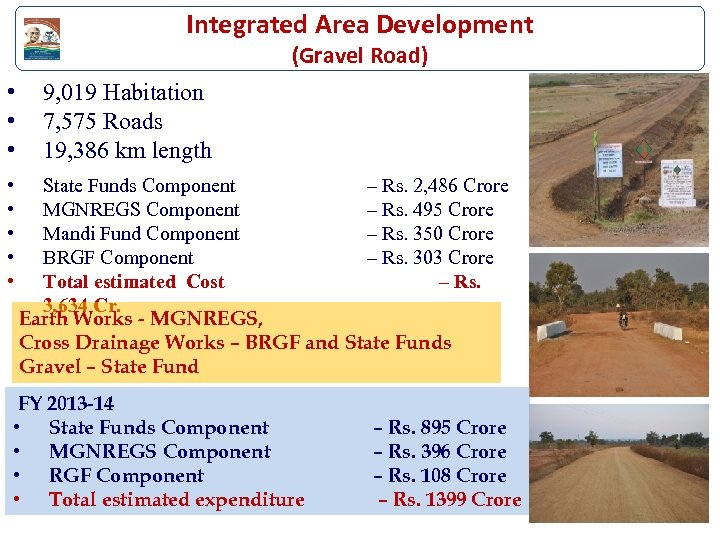 Integrated Area Development (Gravel Road) • • 9, 019 Habitation 7, 575 Roads 19,