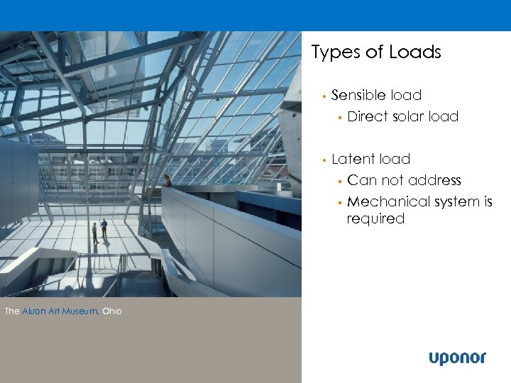 Types of Loads • • The Akron Art Museum, Ohio Sensible load § Direct