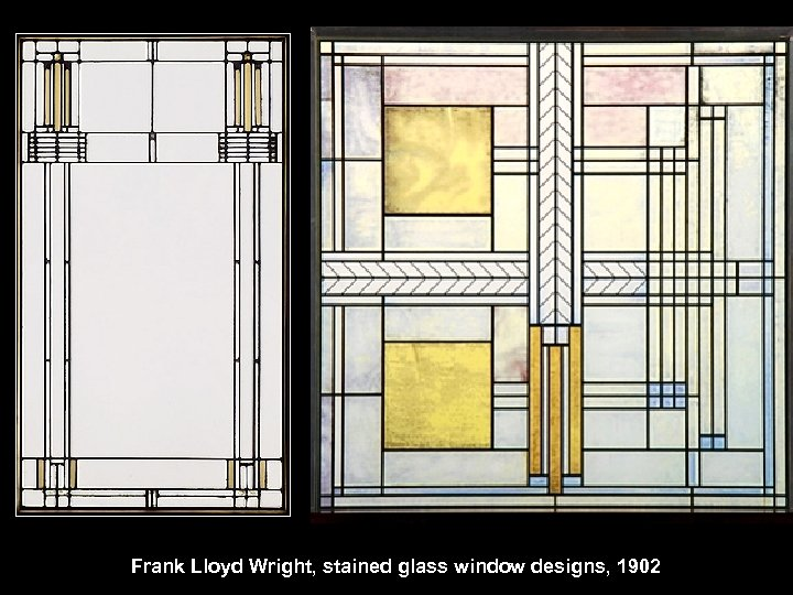 Frank Lloyd Wright, stained glass window designs, 1902