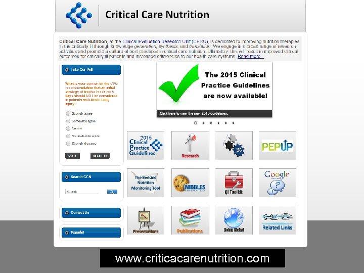 www. criticacarenutrition. com