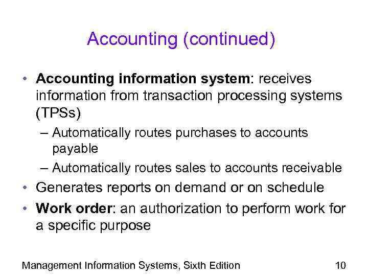 purpose of management information