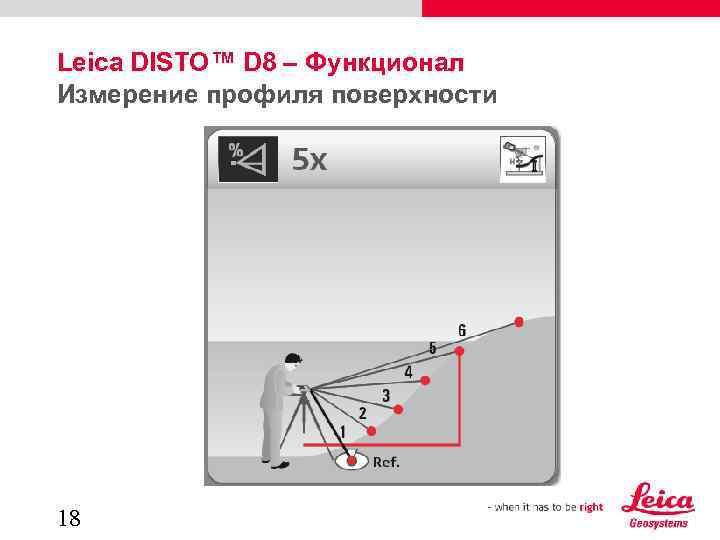 Leica DISTO™ D 8 – Функционал Измерение профиля поверхности 18