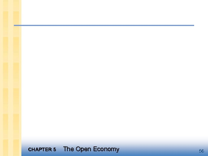 CHAPTER 5 The Open Economy 56