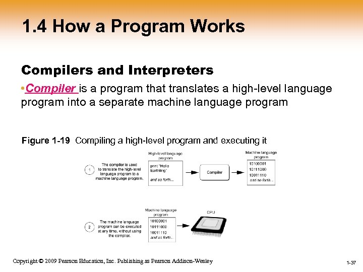 1. 4 How a Program Works Compilers and Interpreters • Compiler is a program
