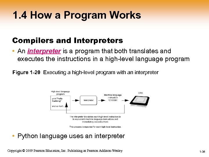 1. 4 How a Program Works Compilers and Interpreters • An interpreter is a