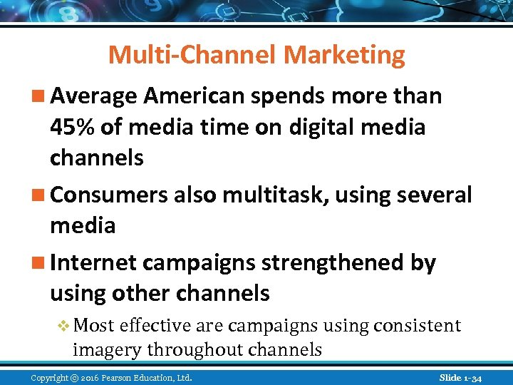 Multi-Channel Marketing n Average American spends more than 45% of media time on digital