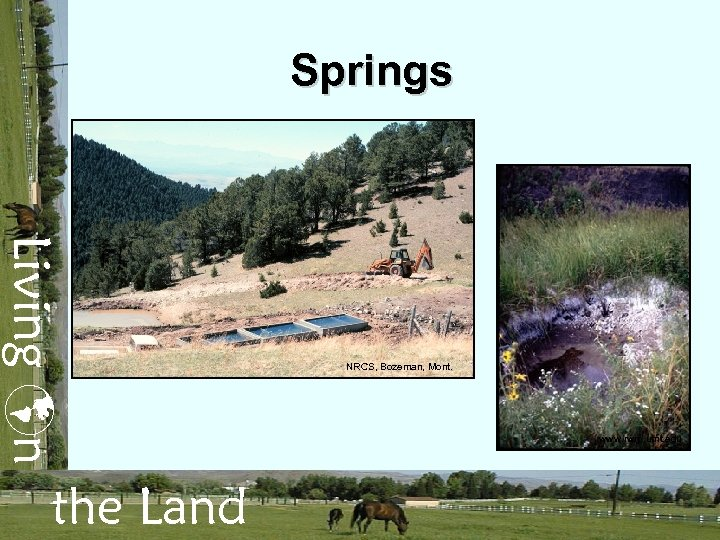 Springs Living n the Land NRCS, Bozeman, Mont. www. rwrp. umt. edu