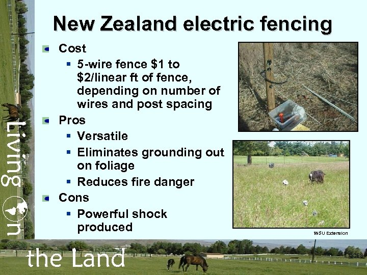 New Zealand electric fencing Living n Cost § 5 -wire fence $1 to $2/linear