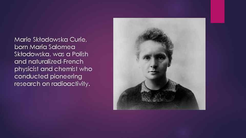 a biography of marie curie a polish chemist 5 facts about marie curie, chemist, physicist there is a museum dedicated to the life of marie skłodowska curie curie retained her polish identity.