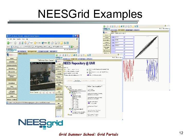 NEESGrid Examples Grid Summer School: Grid Portals 12