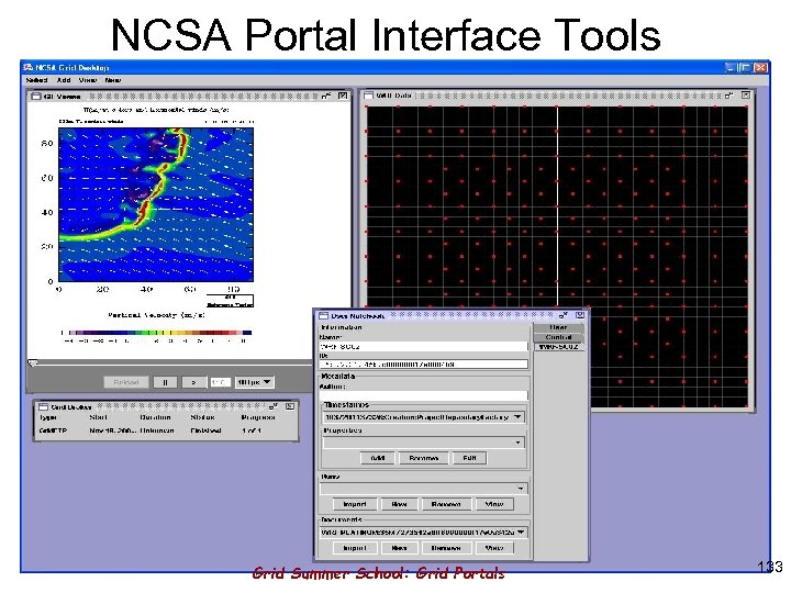 NCSA Portal Interface Tools Grid Summer School: Grid Portals 133