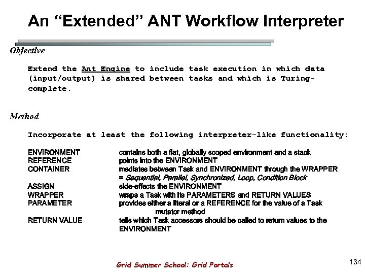 "An ""Extended"" ANT Workflow Interpreter Objective Extend the Ant Engine to include task execution"