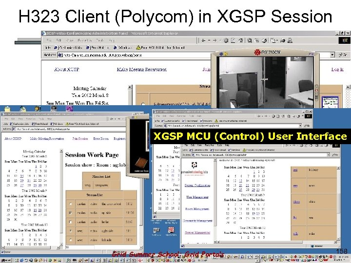 H 323 Client (Polycom) in XGSP Session XGSP MCU (Control) User Interface Grid Summer