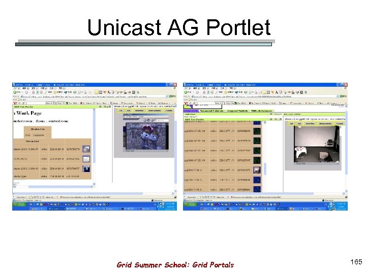 Unicast AG Portlet Grid Summer School: Grid Portals 165