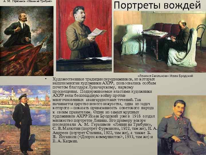 А. М. Герасимов «Ленин на Трибуне» • Портреты вождей «Ленин в Смольном» Исаак