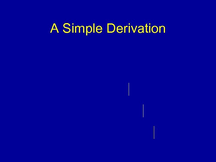 A Simple Derivation