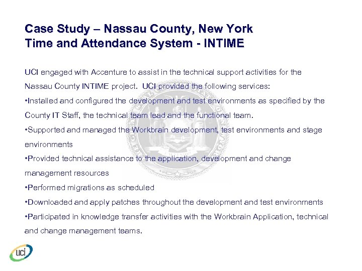 Case Study – Nassau County, New York Time and Attendance System - INTIME UCI