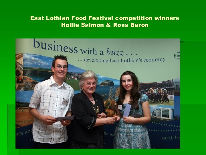 East Lothian Food Festival competition winners Hollie Salmon & Ross Baron
