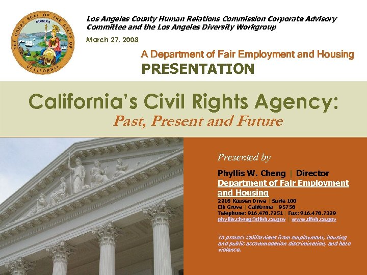 Los Angeles County Human Relations Commission Corporate Advisory Committee and the Los Angeles Diversity