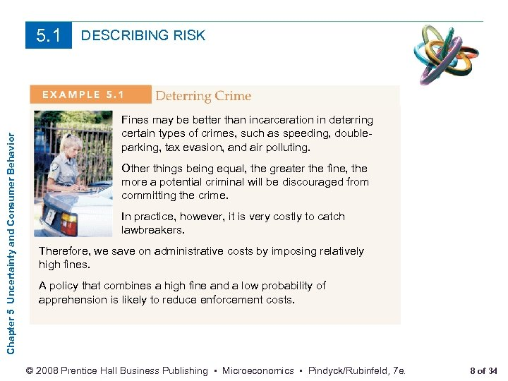 Chapter 5 Uncertainty and Consumer Behavior 5. 1 DESCRIBING RISK Fines may be better