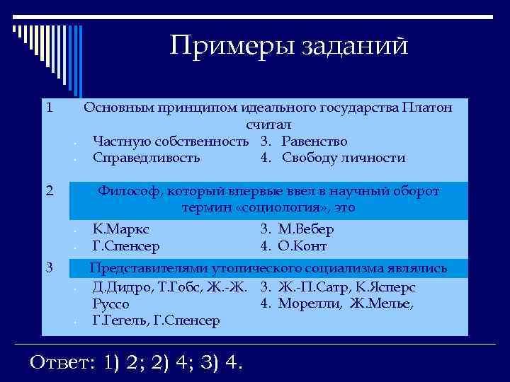 Примеры заданий 1 • • 2 Философ, который впервые ввел в научный оборот термин