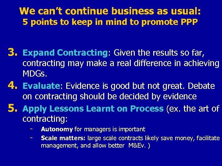 We can't continue business as usual: 5 points to keep in mind to promote