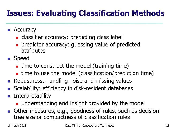 Issues: Evaluating Classification Methods n n n Accuracy n classifier accuracy: predicting class label