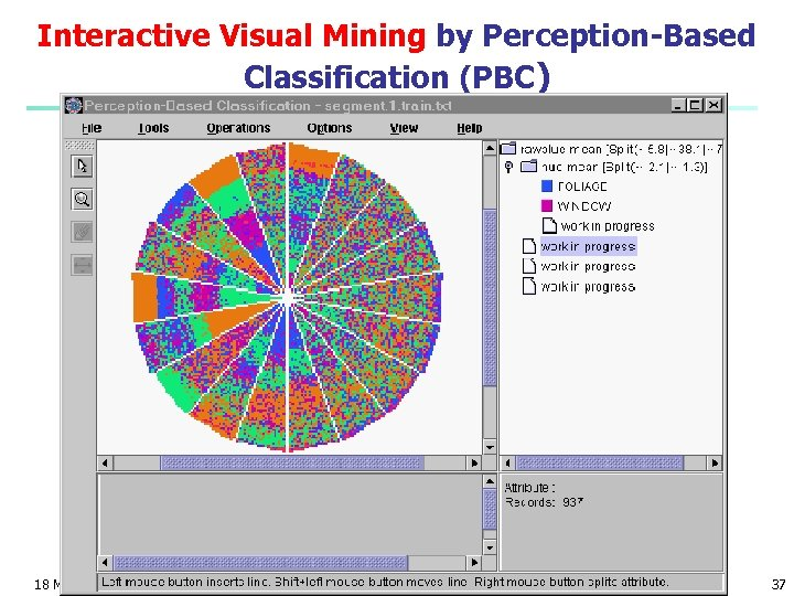 Interactive Visual Mining by Perception-Based Classification (PBC) 18 March 2018 Data Mining: Concepts and