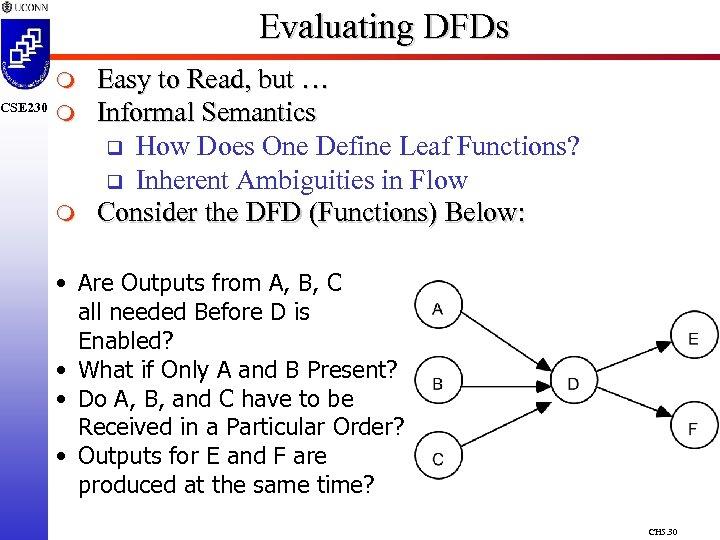 CSE 230 Evaluating DFDs m m m Easy to Read, but … Informal Semantics