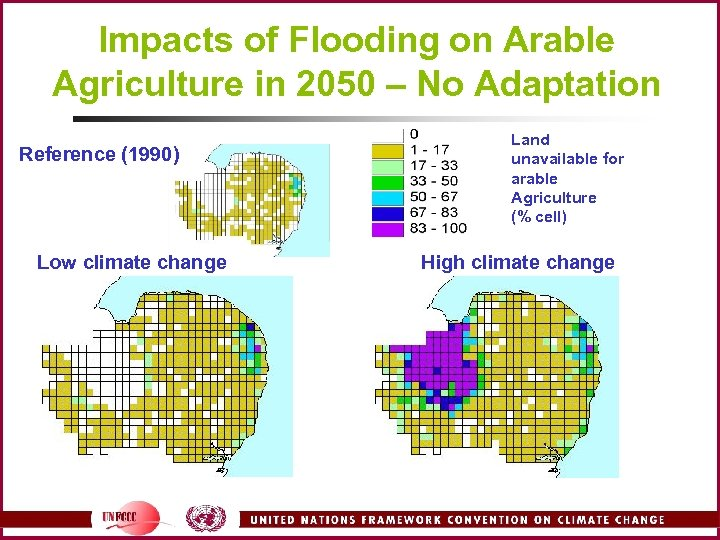 Impacts of Flooding on Arable Agriculture in 2050 – No Adaptation Reference (1990) Low