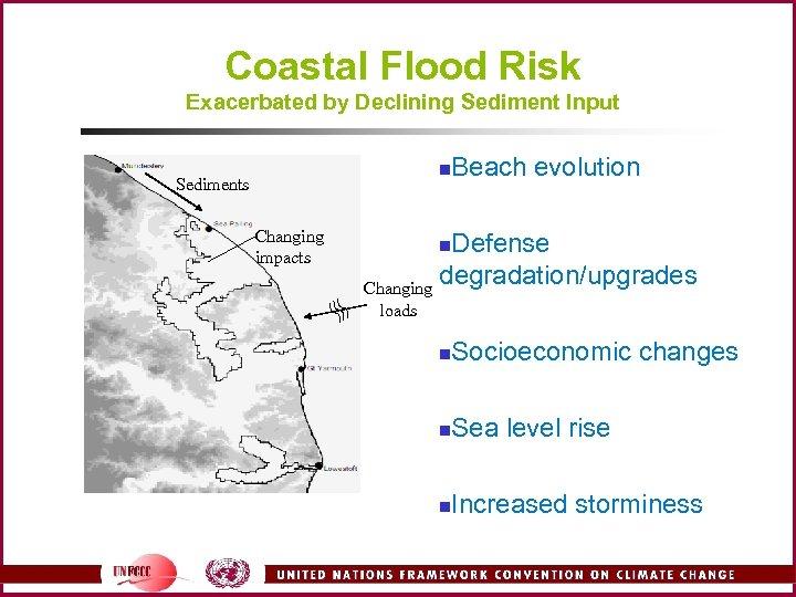 Coastal Flood Risk Exacerbated by Declining Sediment Input n Sediments Changing impacts Beach evolution