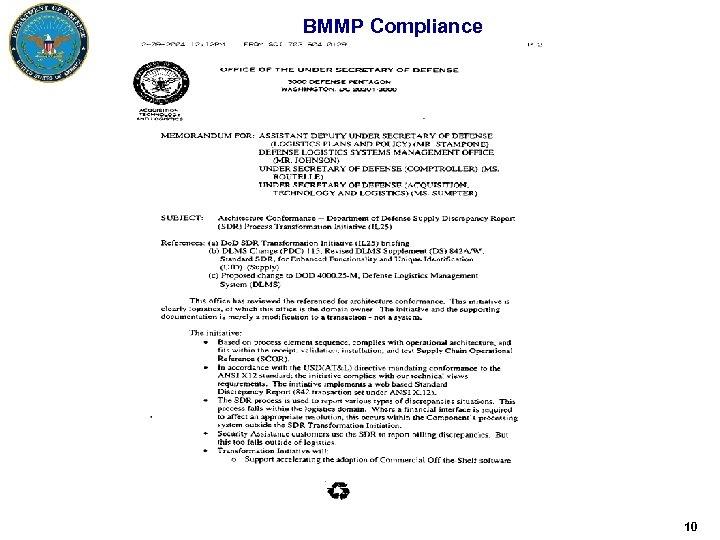 BMMP Compliance 10