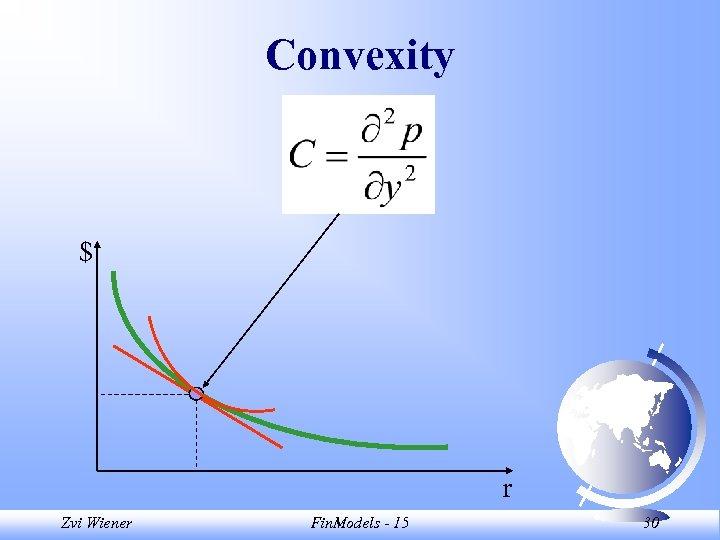 Convexity $ r Zvi Wiener Fin. Models - 15 30