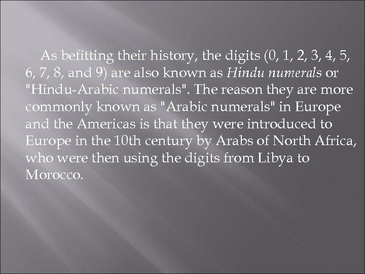 hindu arabic system history