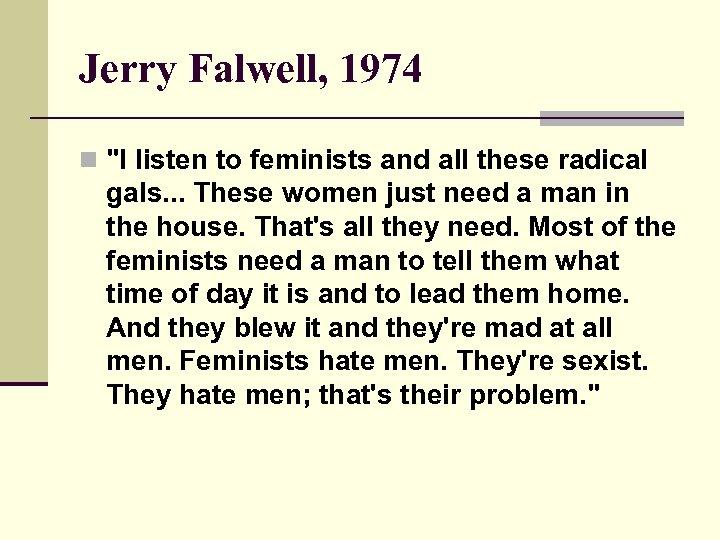 Jerry Falwell, 1974 n
