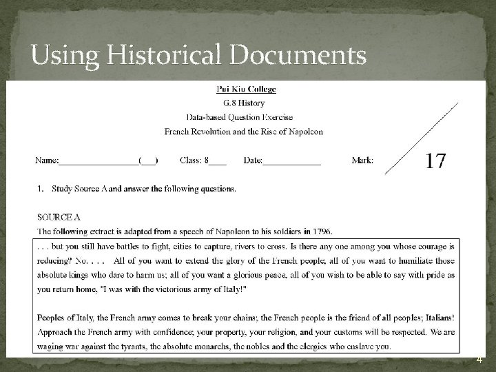 Using Historical Documents 4